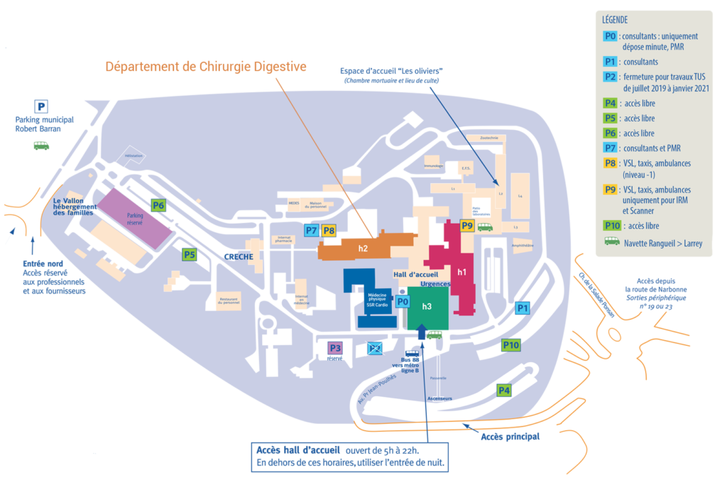plan-département de chirurgie digestive CHU Toulouse